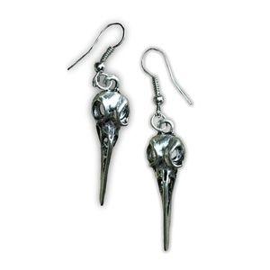 Jewelry - Bird Skull Head Dangle Earrings